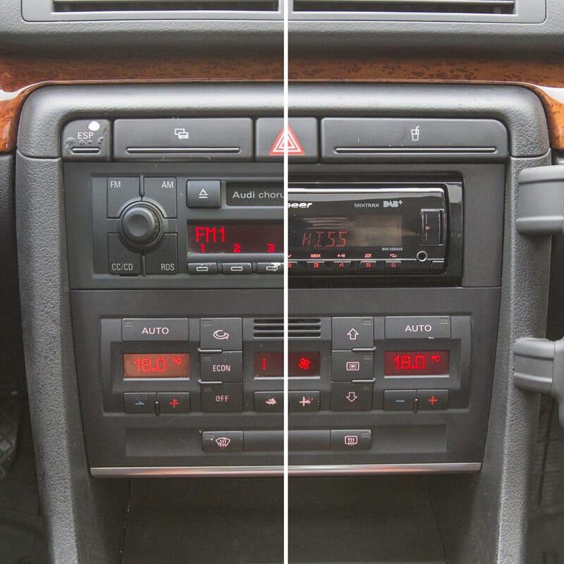 1 Din Audi A4 B6 B7 Spilleroppgraderingspakke Bass Brothers